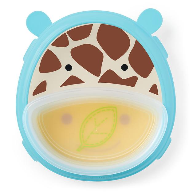 Skip Hop: Zoo Smart Serve Plate & Bowl - Giraffe