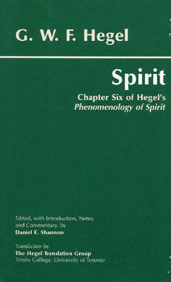Spirit by G W F Hegel