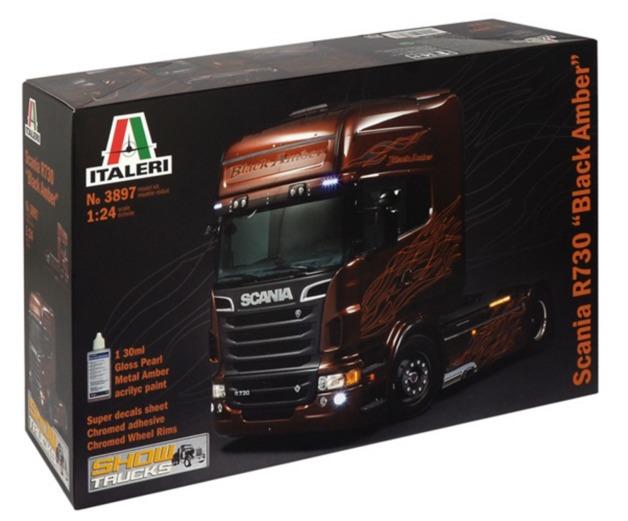 "Italeri: 1/24 Scania R730 ""Black Amber"" - Model Kit"