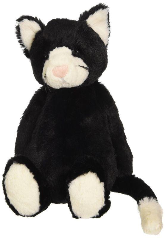 Jellycat: Bashful Cat - Black & White (Medium) image