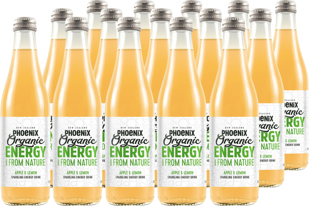Phoenix Organic Energy - Apple & Lemon 330ml (15 Pack)
