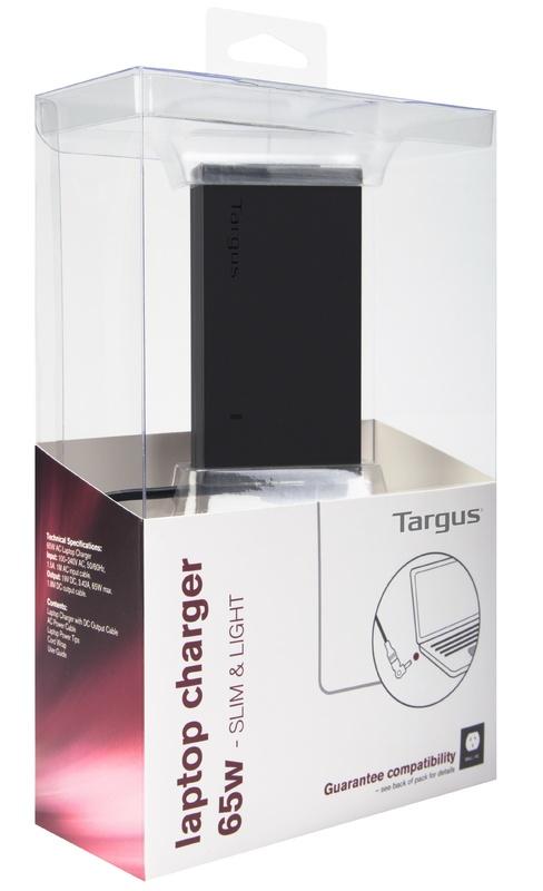 Targus: 65W Slim & Light Laptop Charger