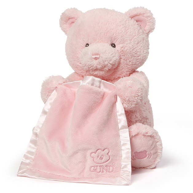 Gund: My First Teddy - Peek A Boo Plush (Pink)