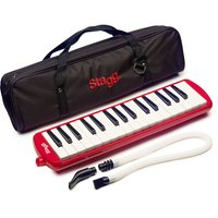 Stagg Melostar reed keyboard 32 keys w/ tube and bag Red
