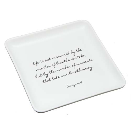 Life Is Not Measured Trinket Dish