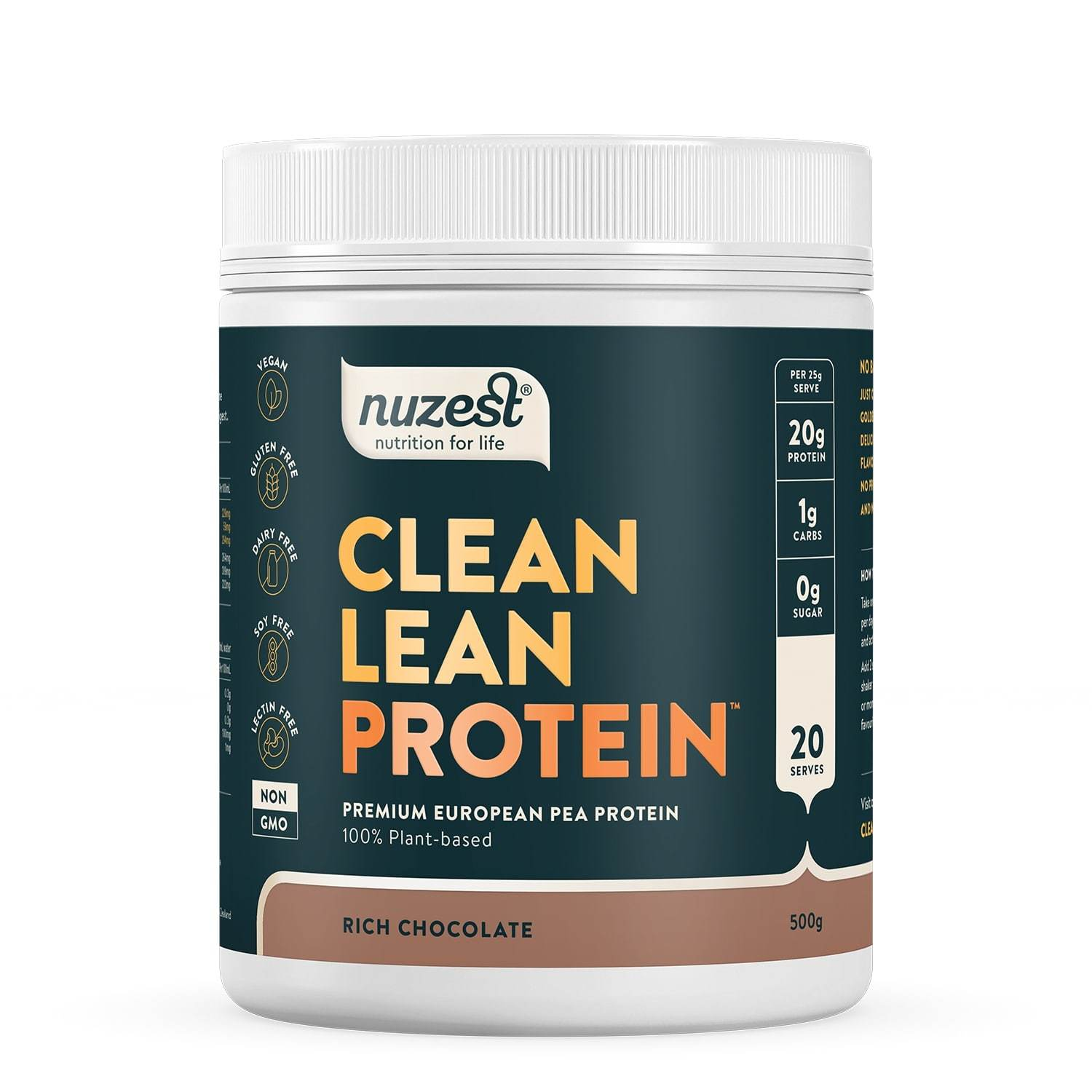 Clean Lean Plant Based Protein - Rich Chocolate (500g) image