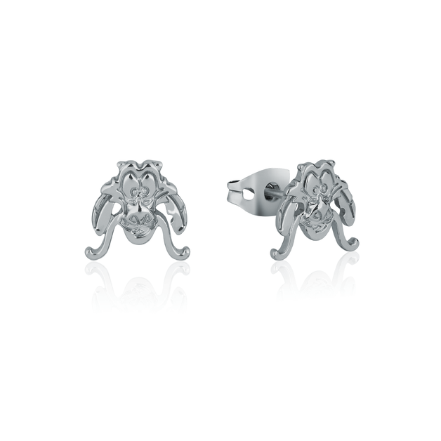Couture Kingdom: Disney Mulan Mushu Stud Earrings White Gold