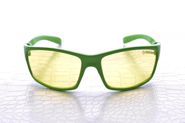 NoScope Minotaur Computer Gaming Glasses - Wasabi Green for PC Games