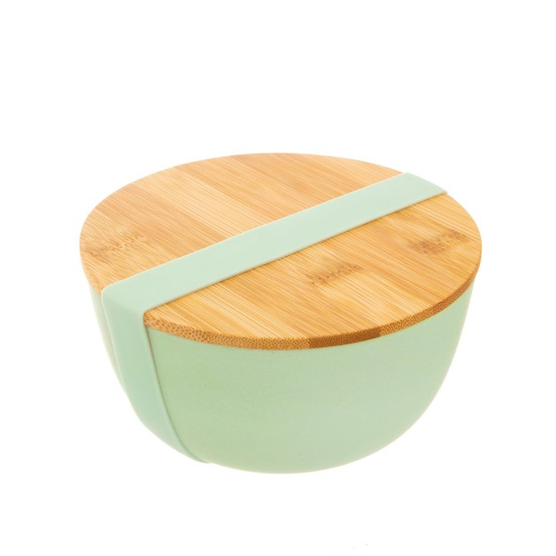 Sass & Belle: Mint Green Bamboo Bowl With Lid