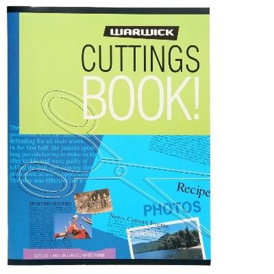 Warwick White 60gsm 32lf Cuttings Scrapbook image