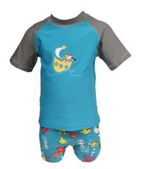 Hi-Hop: Treasure Hunt Rash Suit - Blue (2 Year)