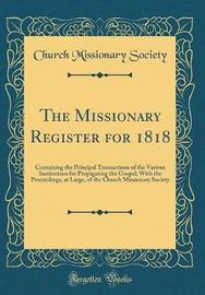 The Missionary Register for 1818 by Church Missionary Society image
