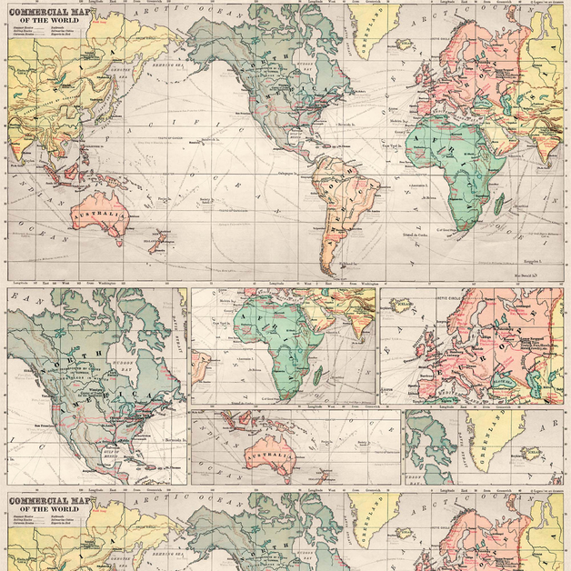 Legami: Wrapping Paper - Map