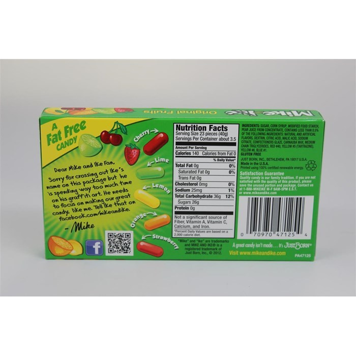 Mike And Ike Theater Box Original Fruits 142gm At Mighty Ape Nz