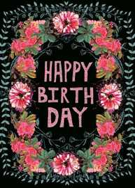 Papaya: Gypsy Floral Birthday Card