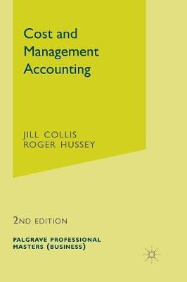 Cost and Management Accounting by Jill Collis image