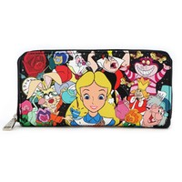 Loungefly: Disney Alice Characters - Zip Around Wallet