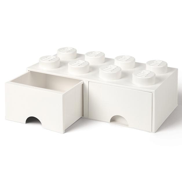 LEGO Storage Brick Drawer 8 (White)
