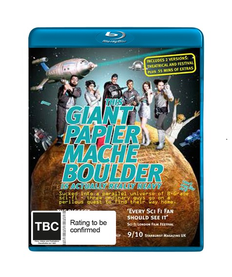 This Giant Papier Mache Boulder Is Actually Really Heavy on Blu-ray