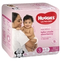 Huggies: Ultra Dry Girl Nappies - Size 3 (22 Pack)