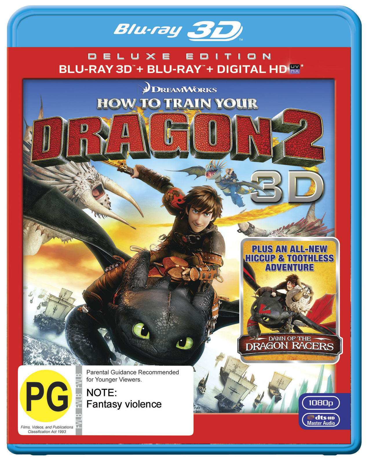 How To Train Your Dragon 2 3D on Blu-ray, 3D Blu-ray, UV image