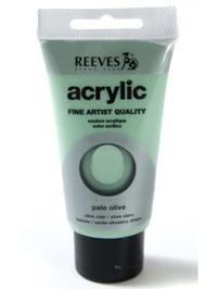 75ml Reeves Fine Acrylic - Pale Olive