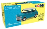 Corgi: 1/43 Austin Mini Mk1 Cooper S, Surf Blue - 60th Anniversary Collection