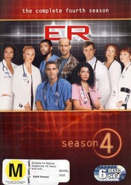 E.R. - The Complete 4th Season (4 Disc Box Set) on DVD image