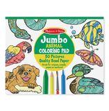 Melissa & Doug: Jumbo Animal Colouring Pad