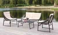 Rattan Wicker Outdoor Sofa Paradise Lounge Set 3 - Beige/Brown image