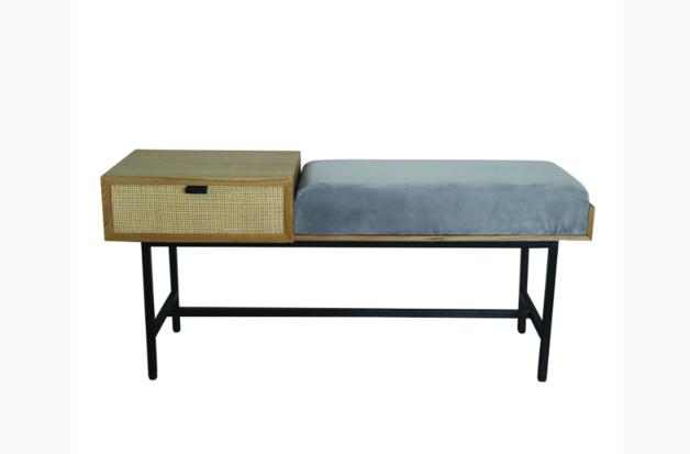 Madras Link: Panama Oak 1 Drawer Bench Table