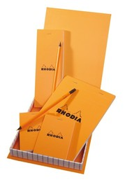Rhodia Essentials Box (4 stapled pads+2 pencils)