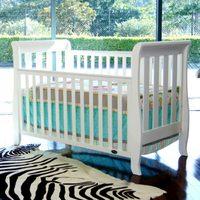 Babyhood: Sleigh Cot - White