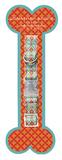 Jonathan Adler Small Dog Collar - Orange Plume