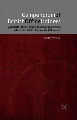 Compendium of British Office Holders by Timothy Venning image