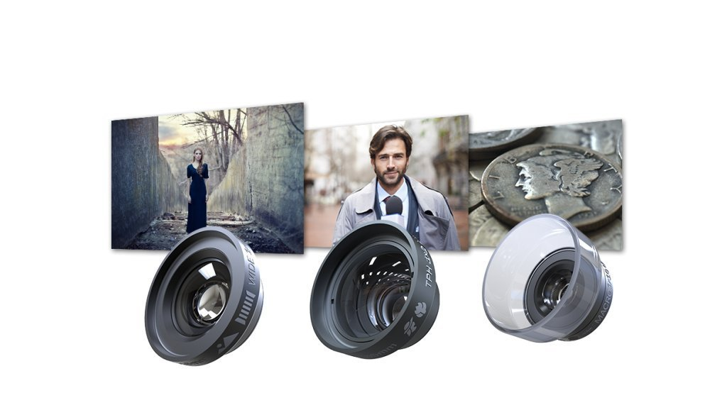 DREAMGRIP VISIO PRO Ultra Low Distortion Lens Set for Any Smartphone Phone Lens Attachment image