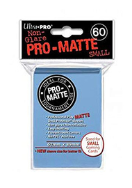 Ultra Pro: Pro-Matte Small Deck Protector Sleeves - Light Blue image