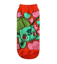 Pokemon: Bulbasaur & Heart Red Socks