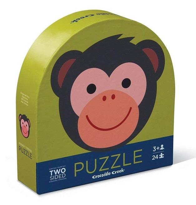 Crocodile Creek: Two-Sided Puzzle - Monkey Friends