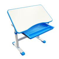 Gorilla Office: Kids Height Adjustable Desk with Chair - Blue image
