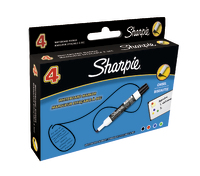 Sharpie Whiteboard Chisel Tip Markers Assorted Pack of 4