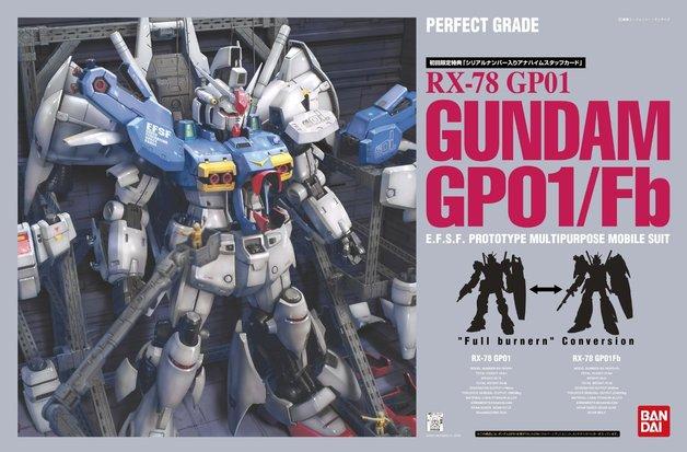 PG 1/60 RX-78 Gundam GP01/Fb - Model Kit