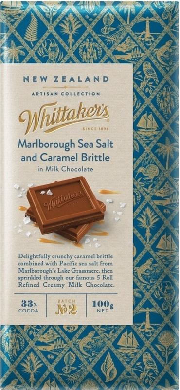 Whittaker's Artisan Collection: Block Marlborough Sea Salt Caramel Brittle 100g