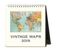 Vintage Maps 2019 Desk Calendar