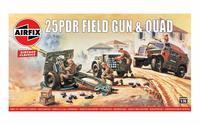 Airfix 25PDR Field Gun & Quad 1:76 - Model Kit image