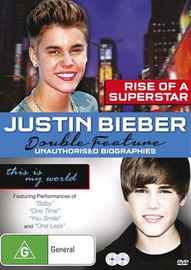 Justin Bieber Double Feature - Rise of a Superstar / This is My World on DVD