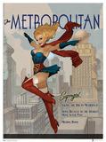 DC Comics Bombshells Supergirl Art Print