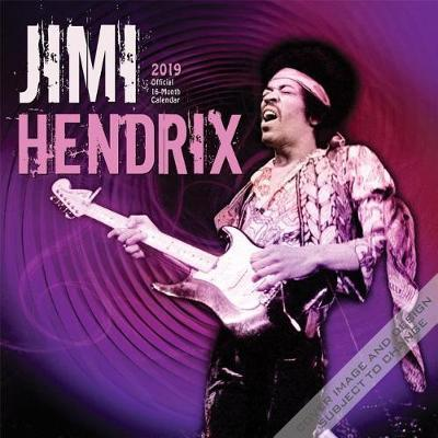 Jimi Hendrix 2019 Square by Inc Browntrout Publishers image