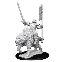Pathfinder Deep Cuts: Unpainted Miniatures - Orc on Dire Wolf