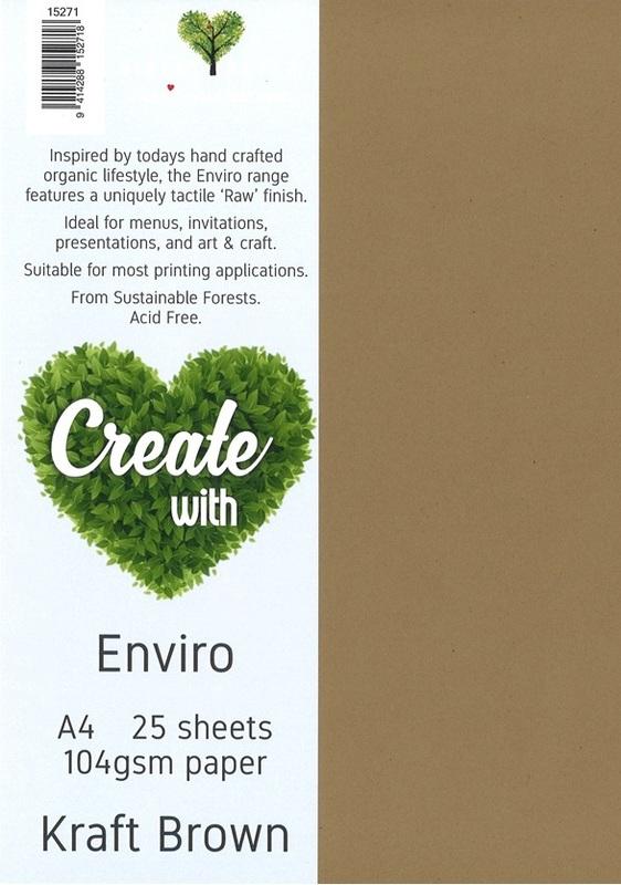 Enviro Paper A4 104gsm - Kraft Brown (25 Pack)